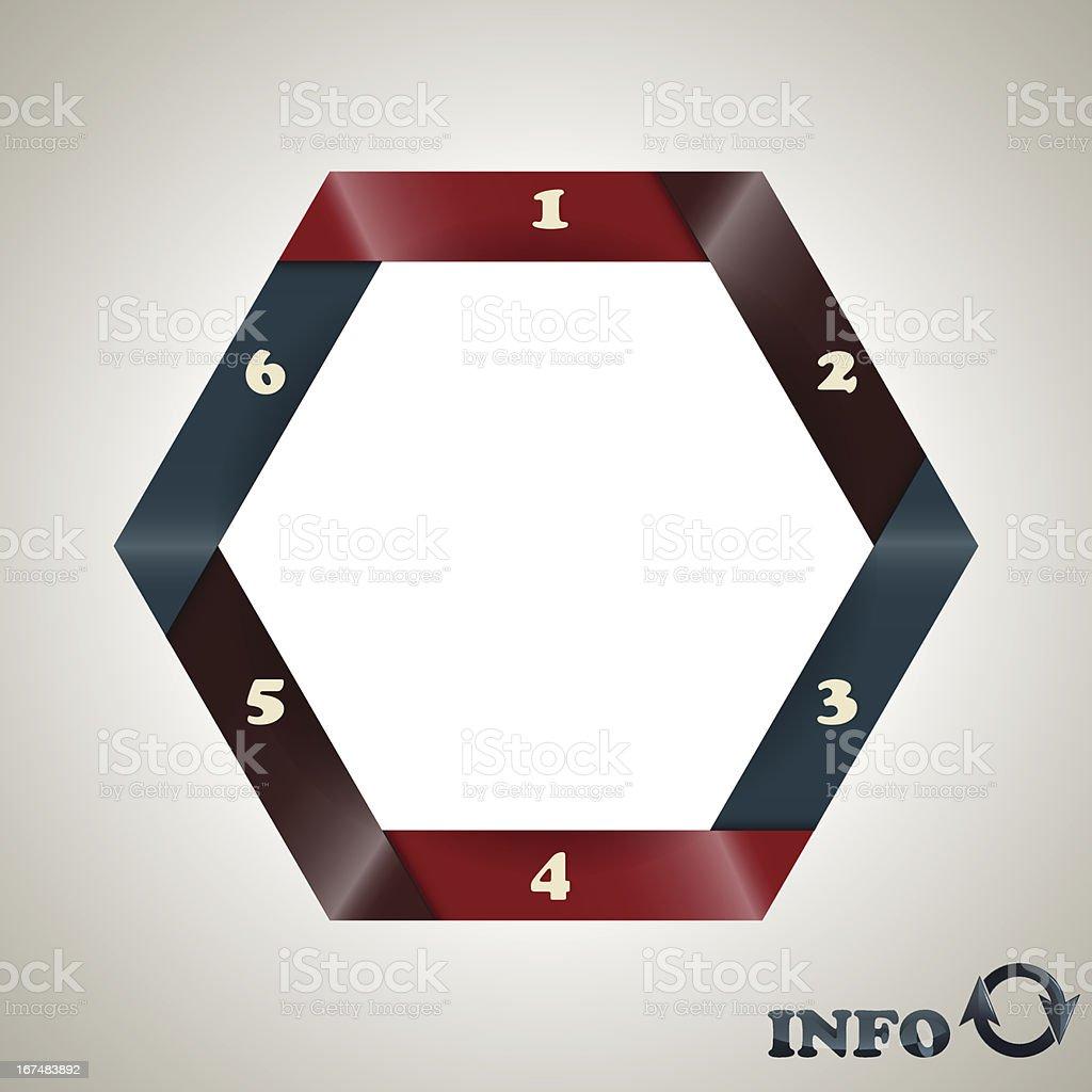 vector hexagon  infographic template royalty-free stock vector art