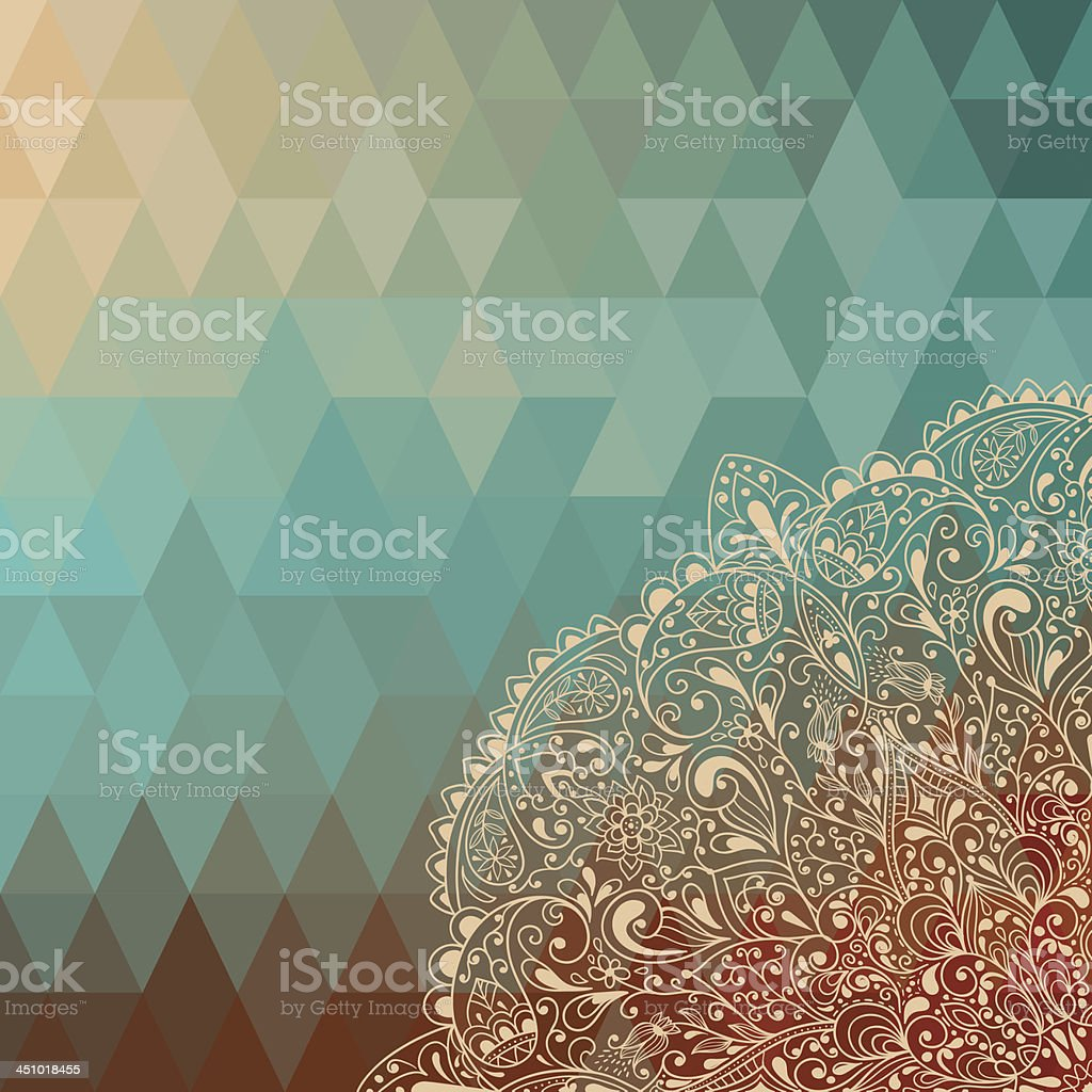 Vector highly detailed floral pattern royalty-free stock vector art