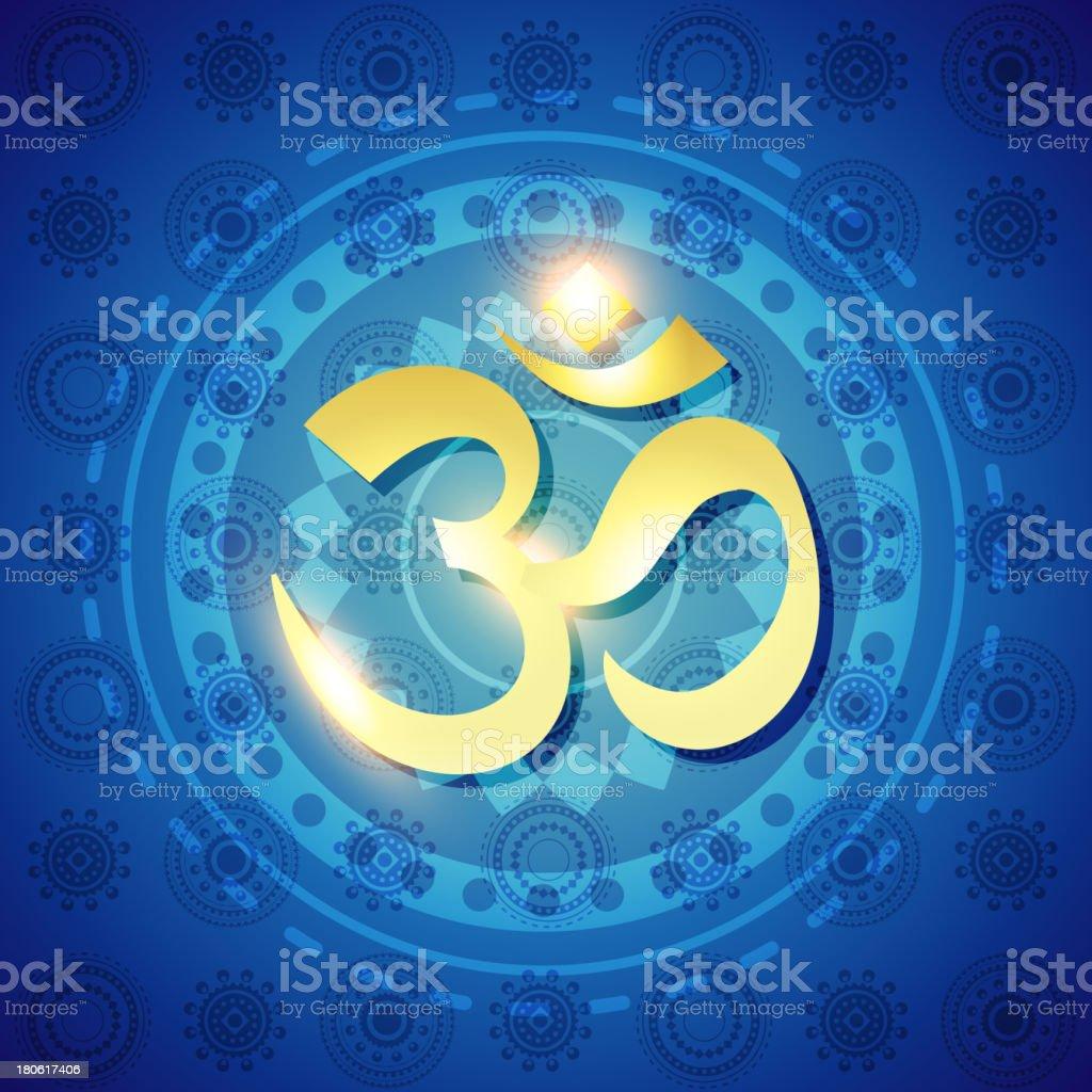 vector hindu om text royalty-free stock vector art