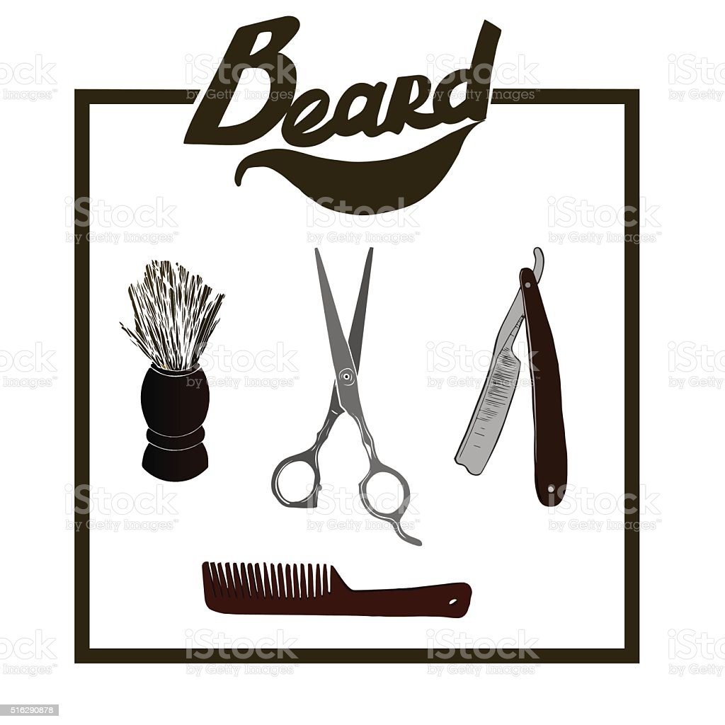 Vector Hipster Barber Shop Logo stock vector art 516290878 ...
