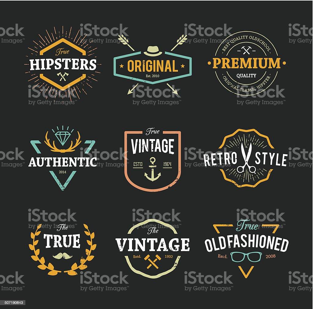 Vector Hipster Emblems vector art illustration