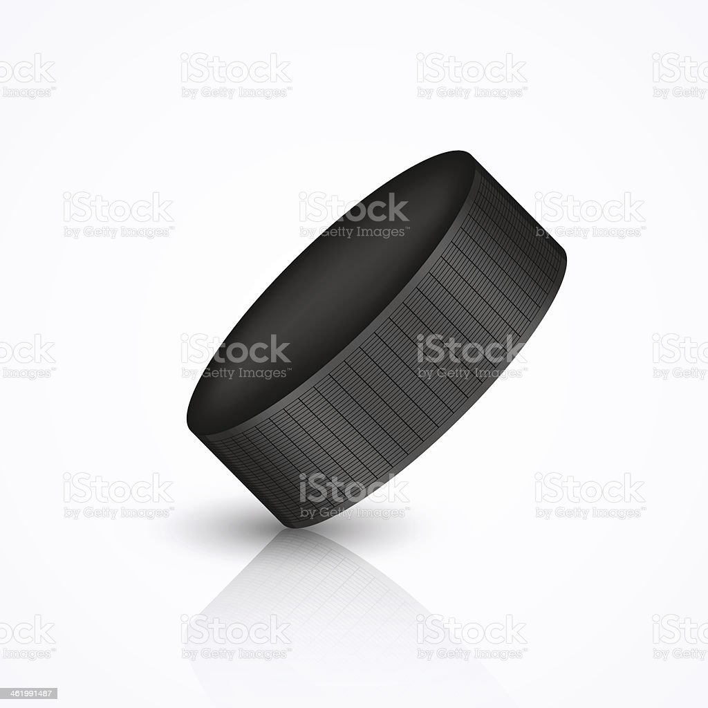 Vector hockey puck isolated on white royalty-free stock vector art