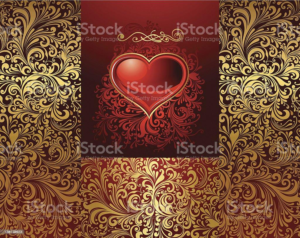 Vector holiday greeting card royalty-free stock vector art