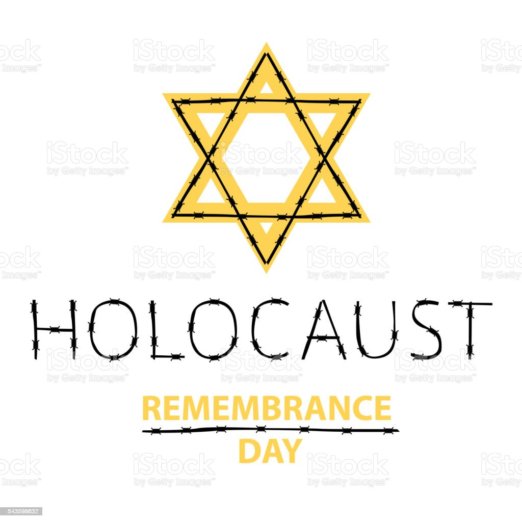Vector holocaust remembrance day. January 27. vector art illustration