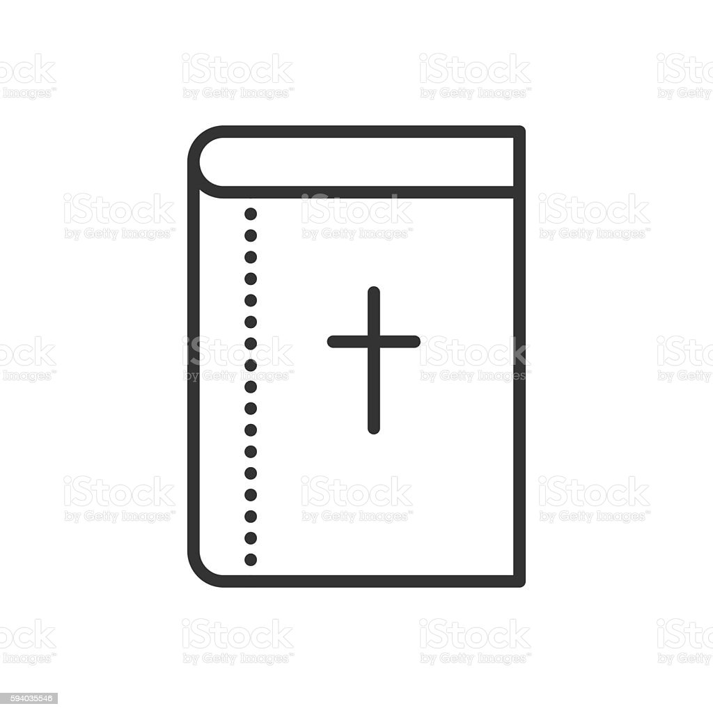Vector Holy Bible flat icon. Symbol of Christianity religion. vector art illustration