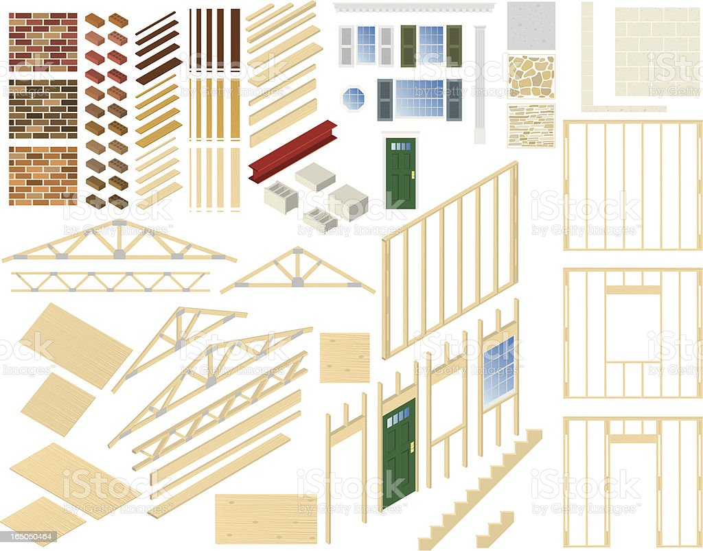 Vector Home Building Components royalty-free stock vector art