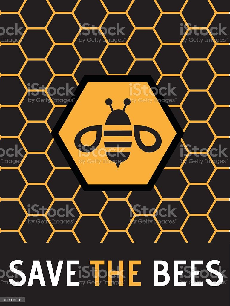 Vector Honeybee Protection Poster Illustration vector art illustration