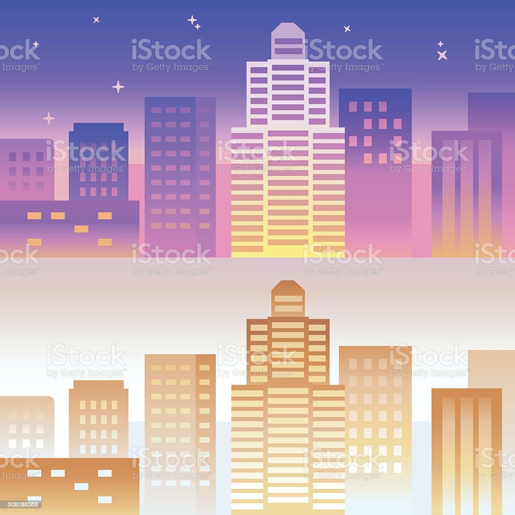 Vector horizontal banner and background in bright gradient color vector art illustration