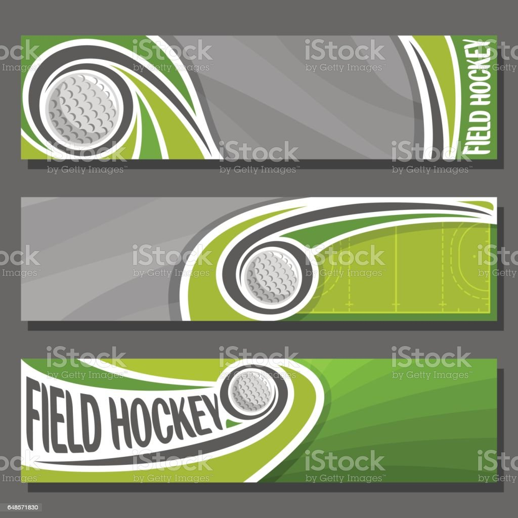 Vector horizontal Banners for Field Hockey vector art illustration