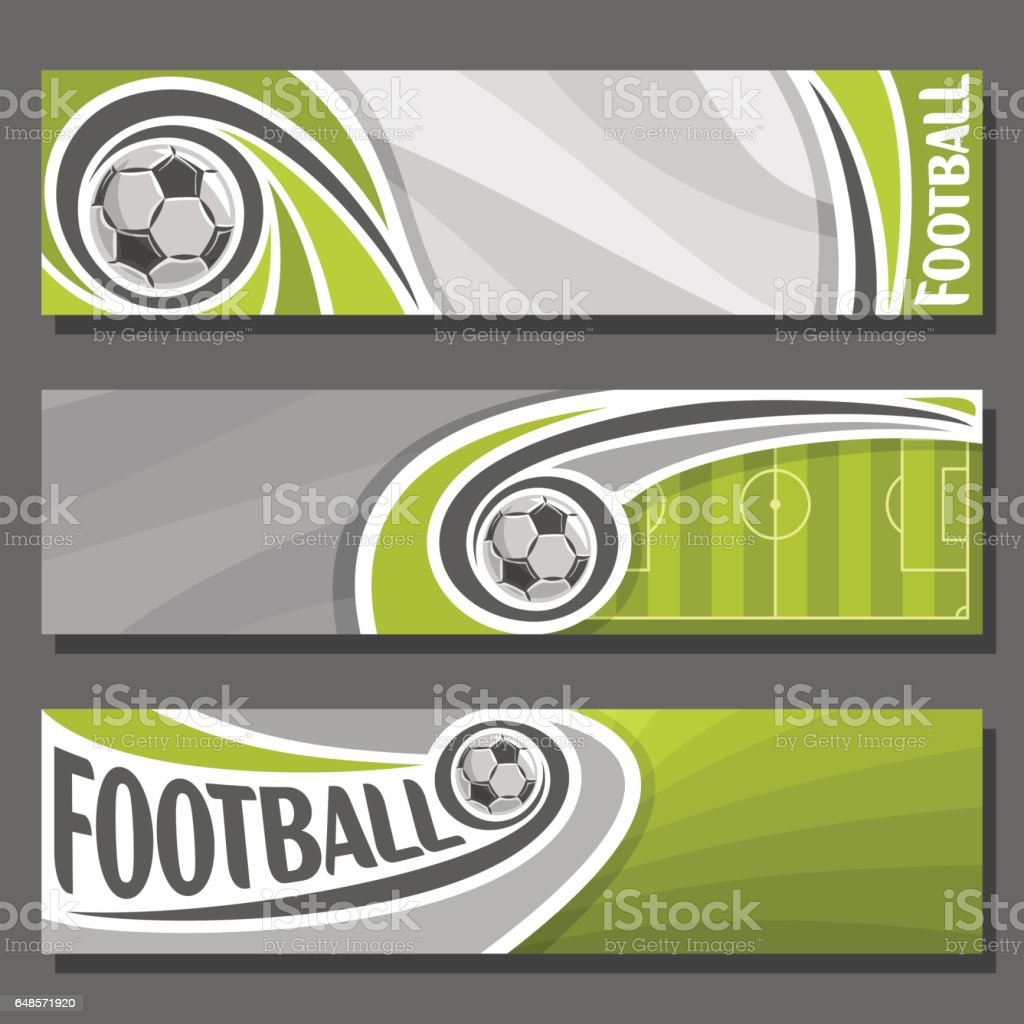 Vector horizontal Banners for Football vector art illustration