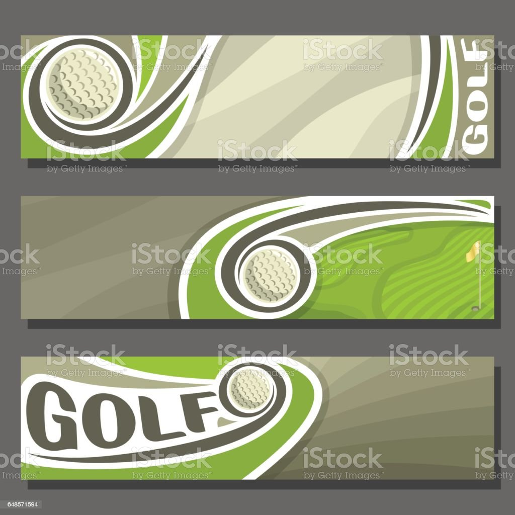 Vector horizontal Banners for Golf vector art illustration