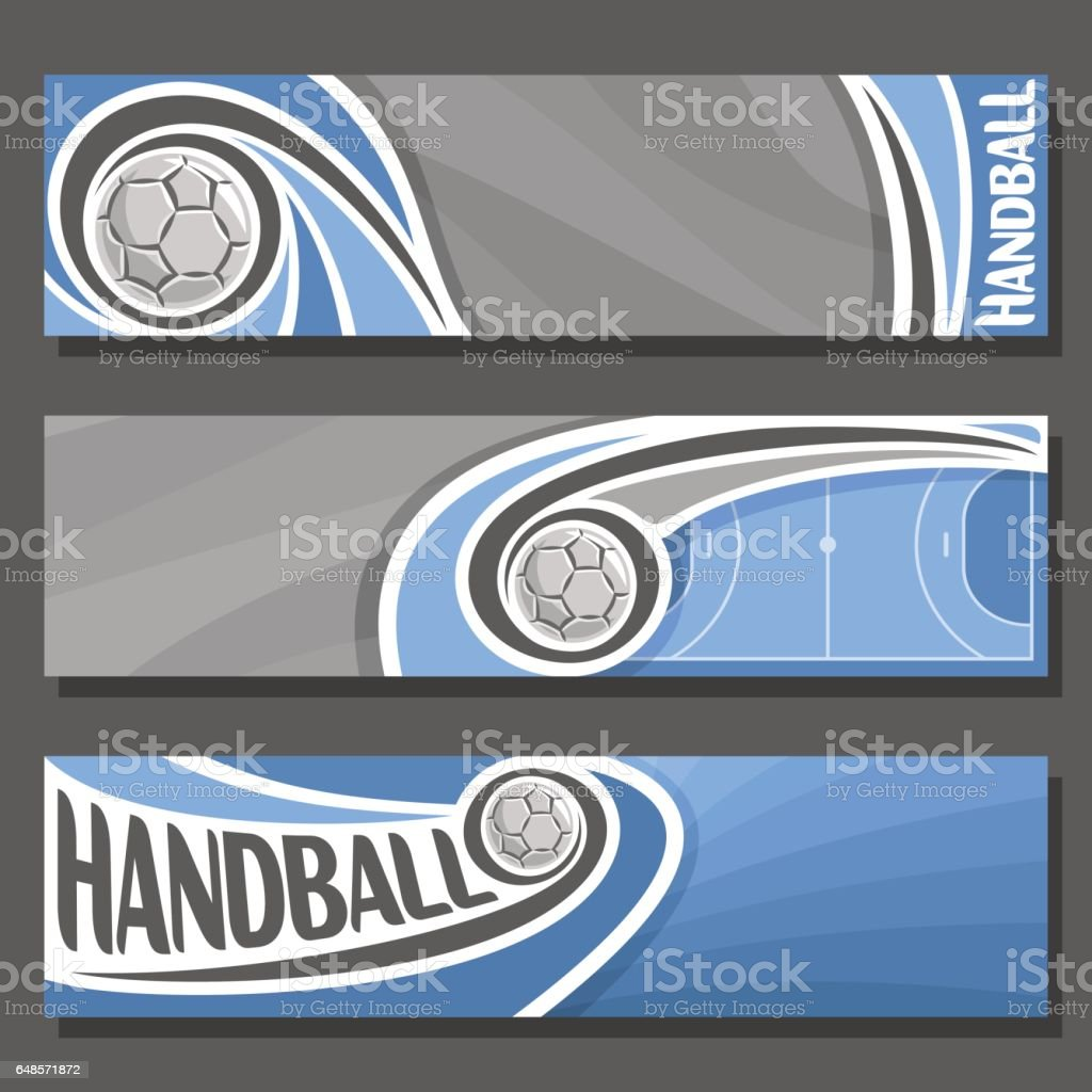 Vector horizontal Banners for Handball vector art illustration
