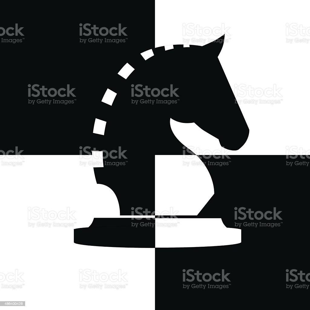 Vector horse of chess vector art illustration