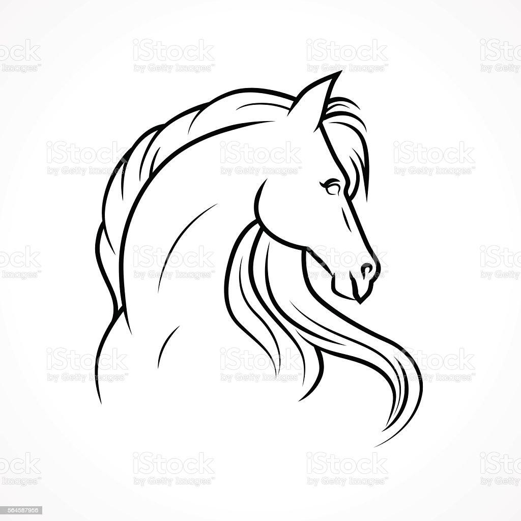 Vector horse vector art illustration