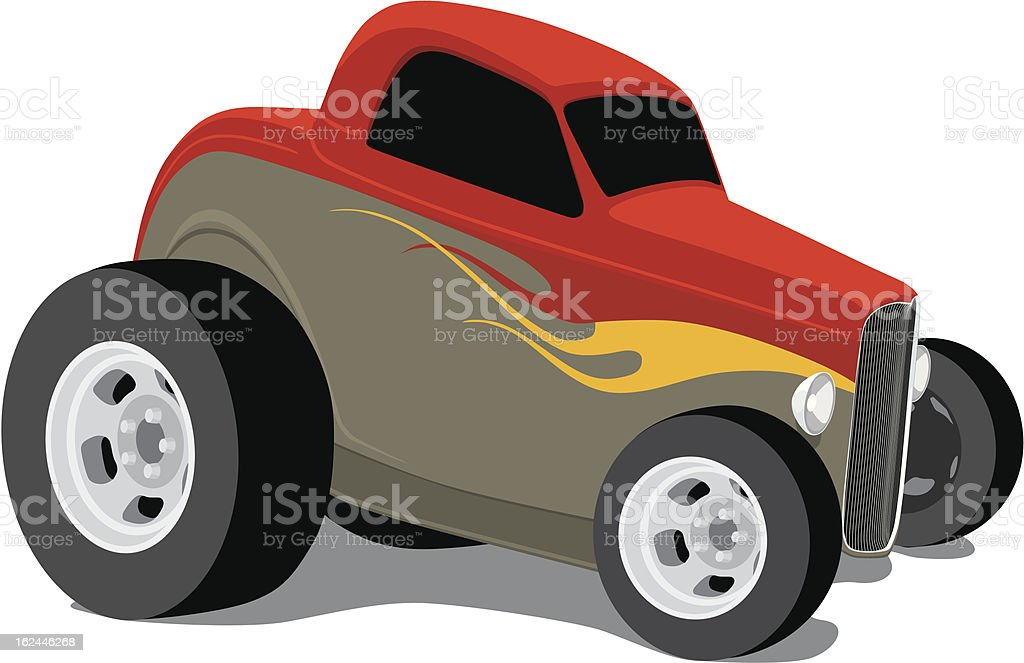 Vector Hot Rod royalty-free stock vector art