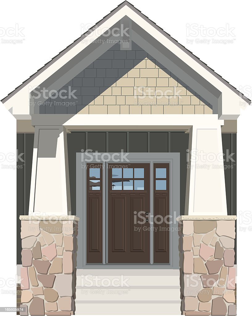 Vector House Door Front 2 vector art illustration