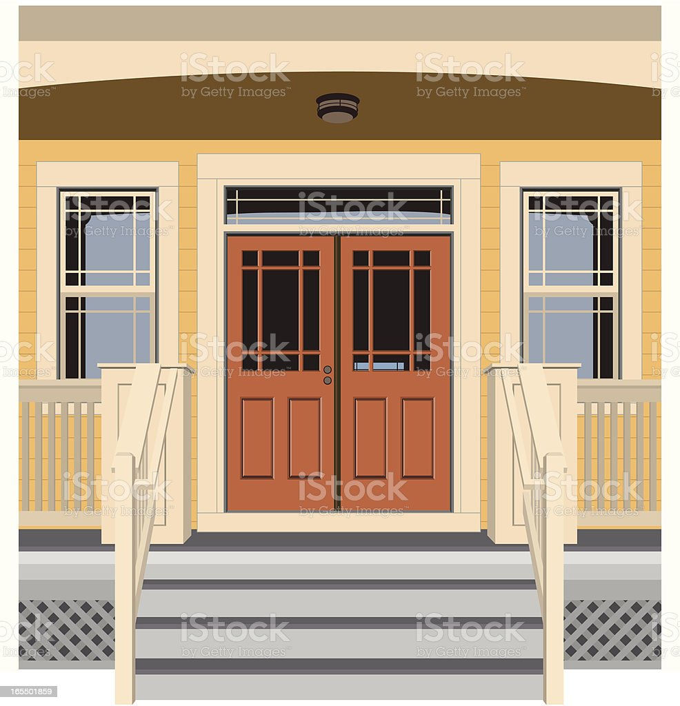Vector House Door Front vector art illustration