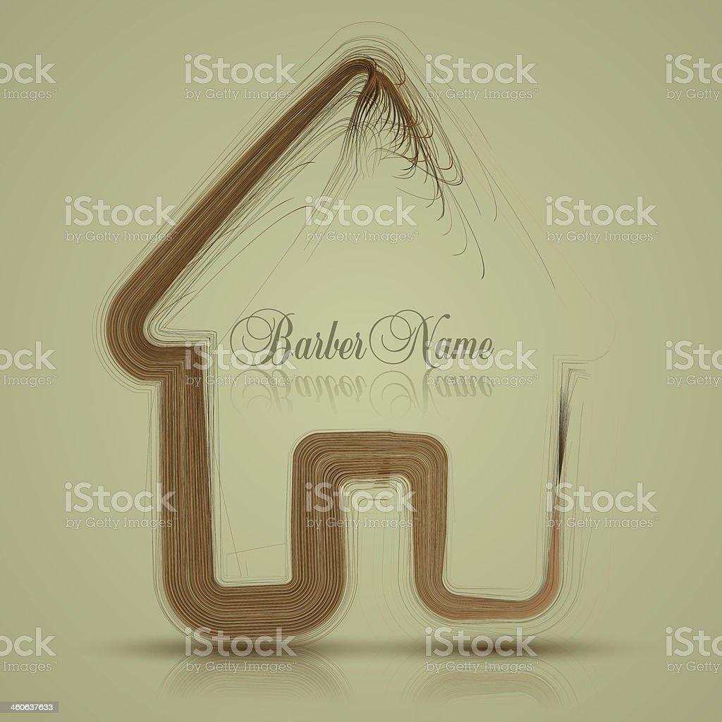 Vector house of hair. Barber name. Eps10 vector art illustration