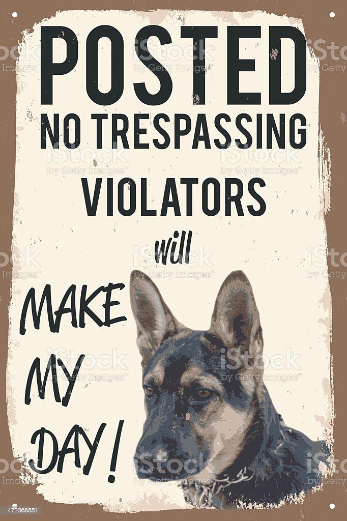 vector humor warning sign vector art illustration