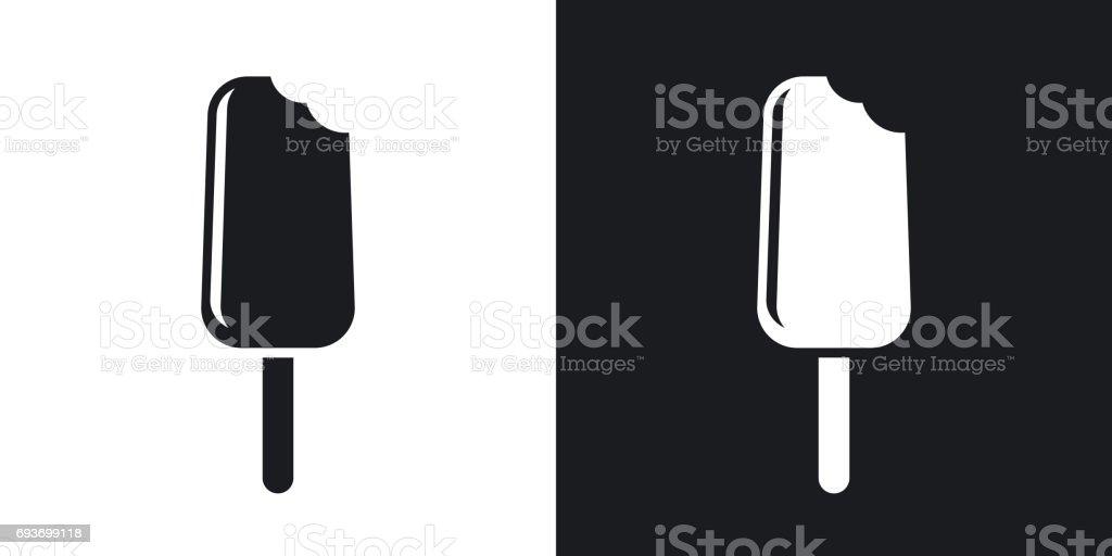 Vector ice cream icon. Two-tone version vector art illustration