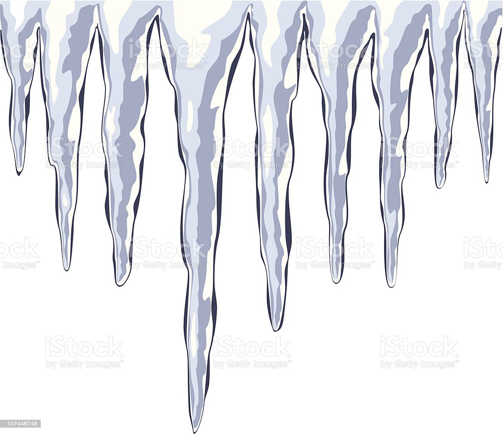 vector icicles royalty-free stock vector art
