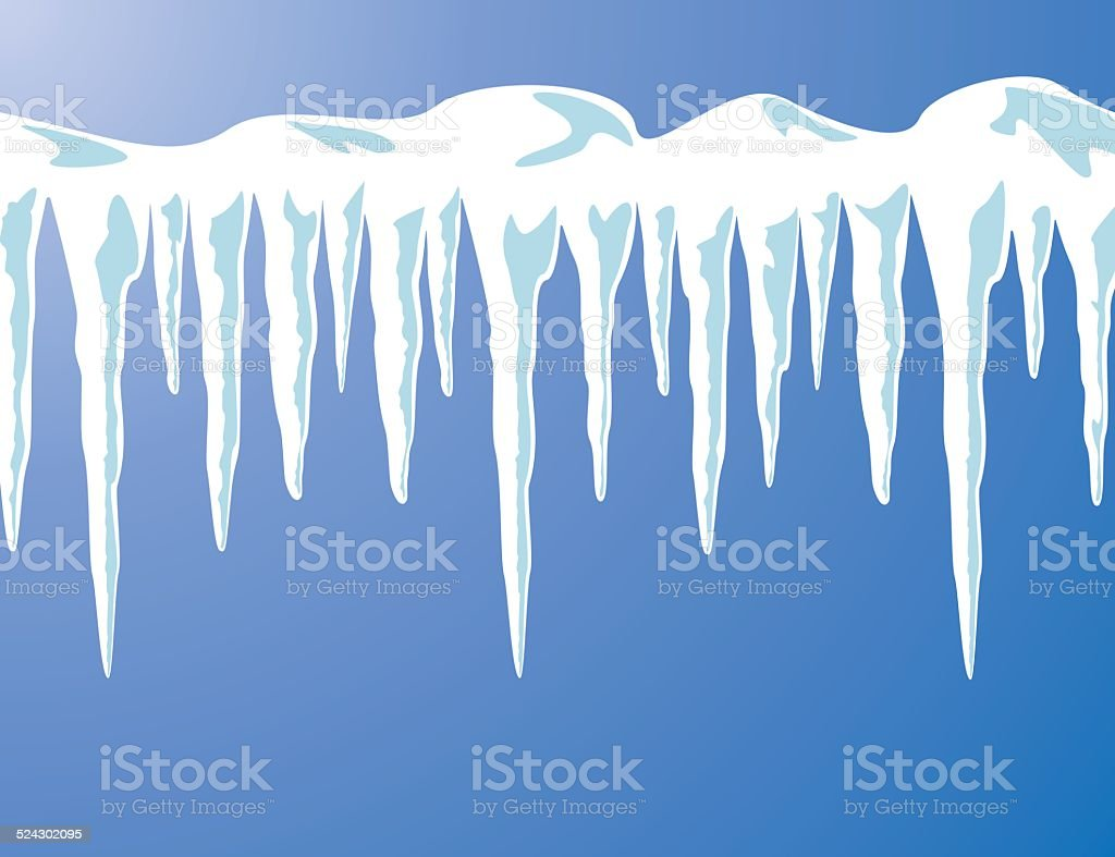 vector icicles vector art illustration
