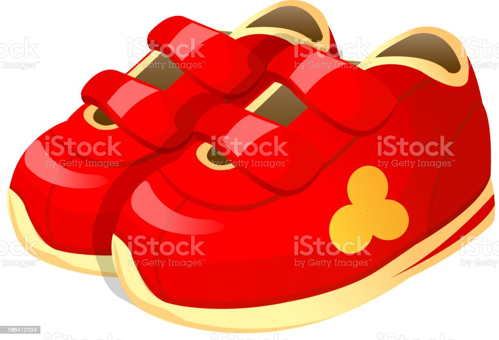 running shoes clipart clip art vector images illustrations istock rh istockphoto com pink baby shoes clipart baby ballerina shoes clipart