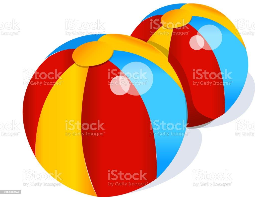 ベクトルのアイコンのビーチボール のイラスト素材 186636693 | istock