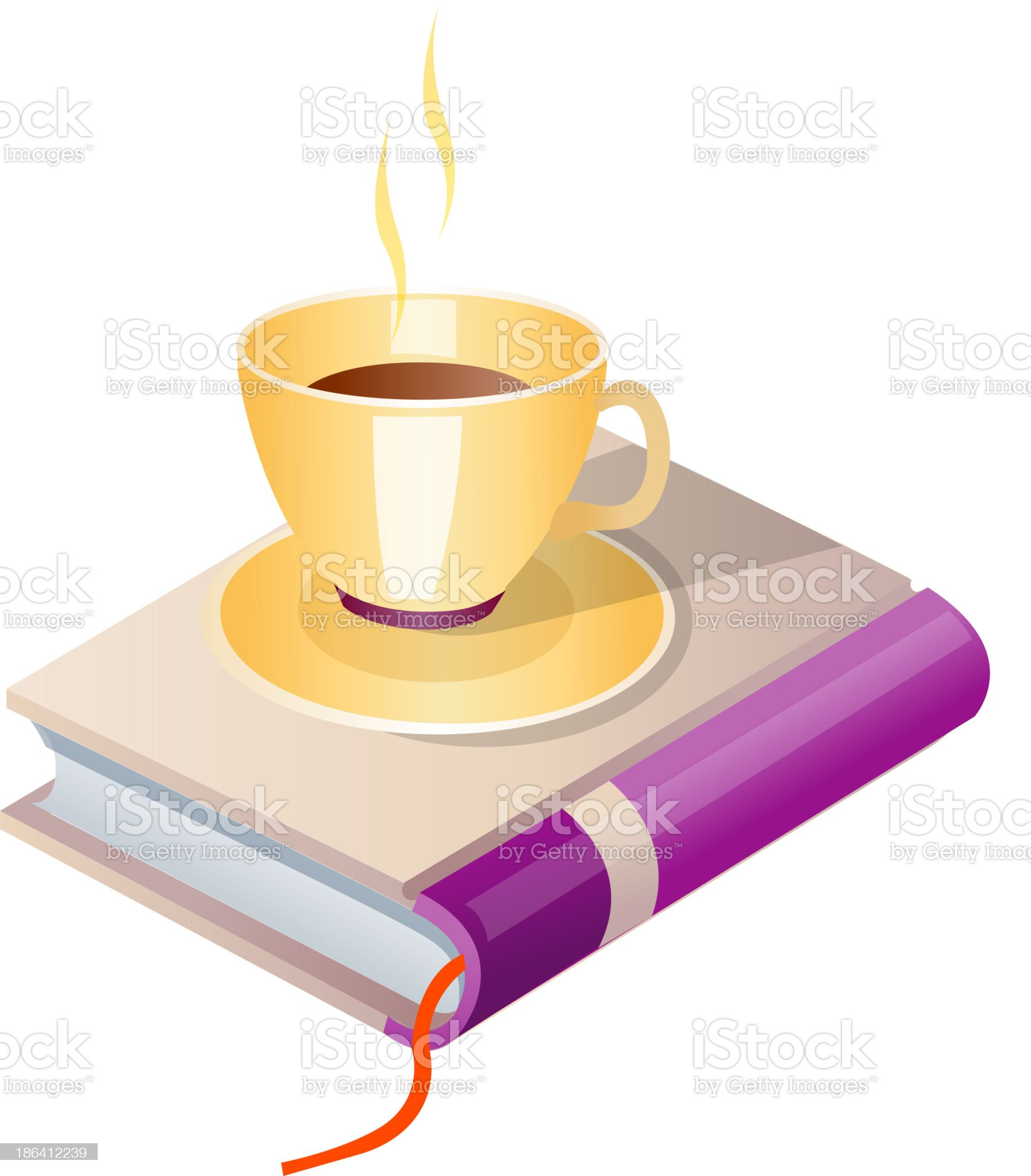 vector icon book and coffee royalty-free stock vector art
