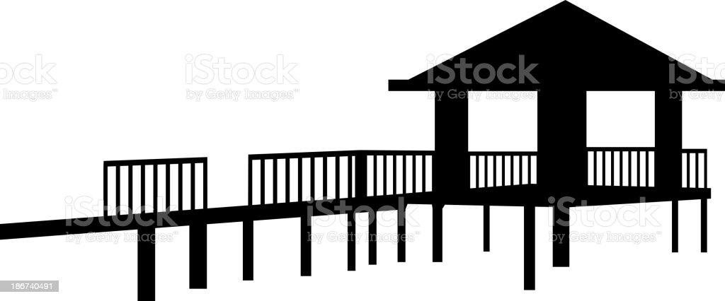 vector icon bungalow vector art illustration