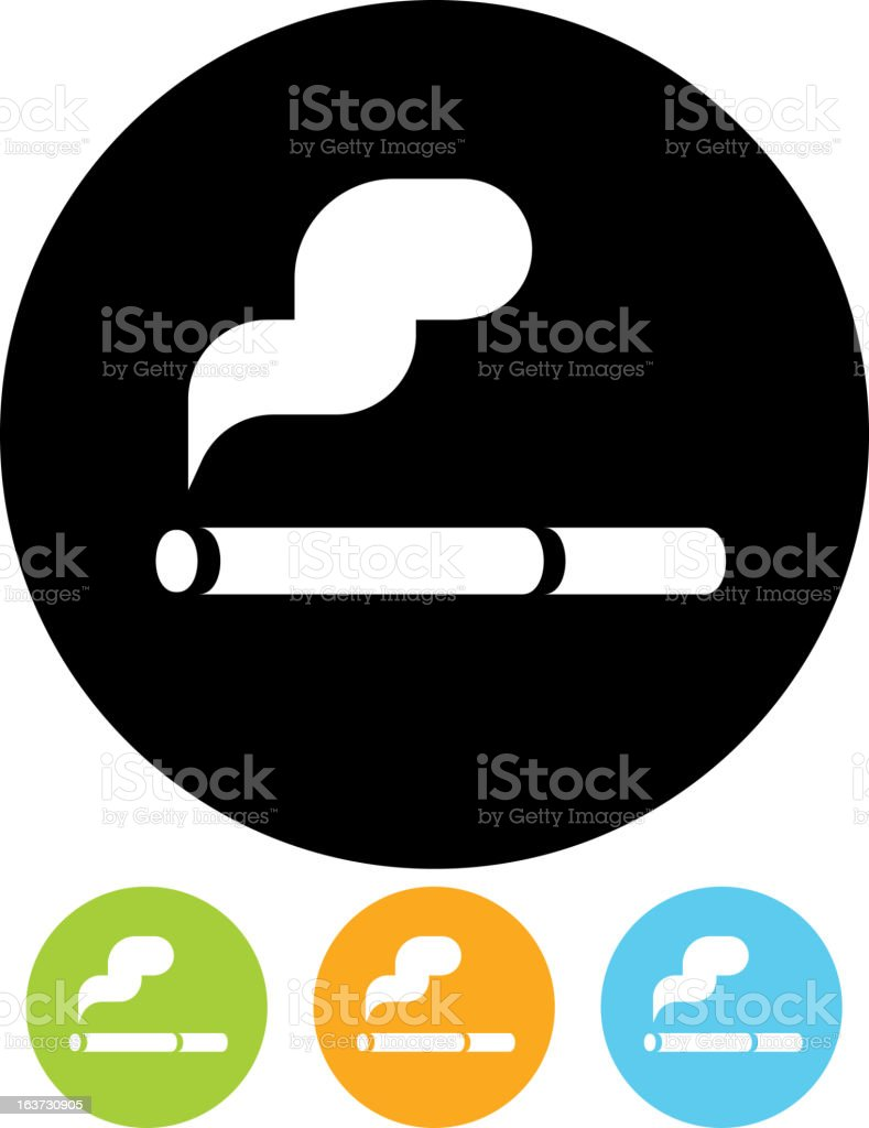 Vector icon - Cigarette vector art illustration