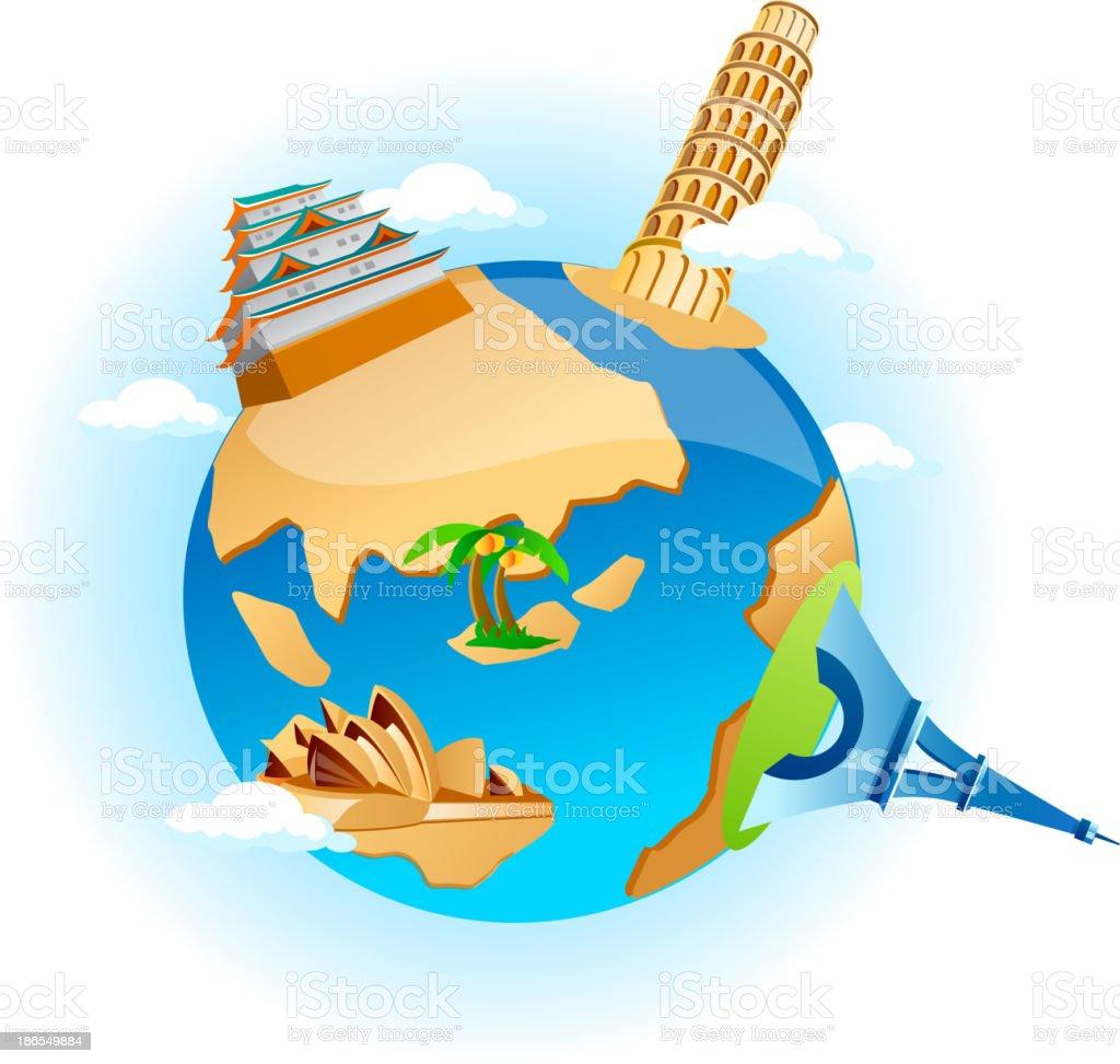 vector icon earth vector art illustration