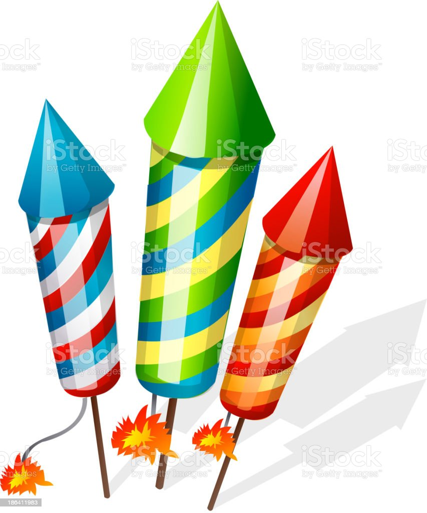 vector icon firecrackers vector art illustration