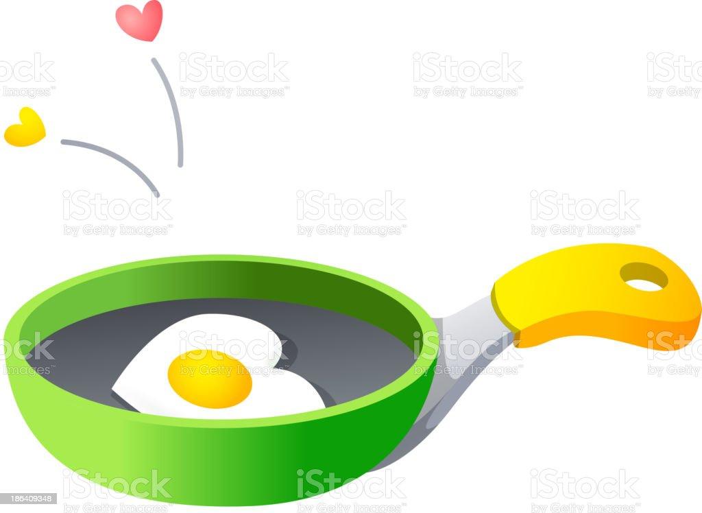 Vector icon frying pan royalty-free stock vector art