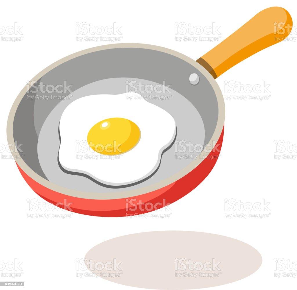 vector icon frying pan vector art illustration