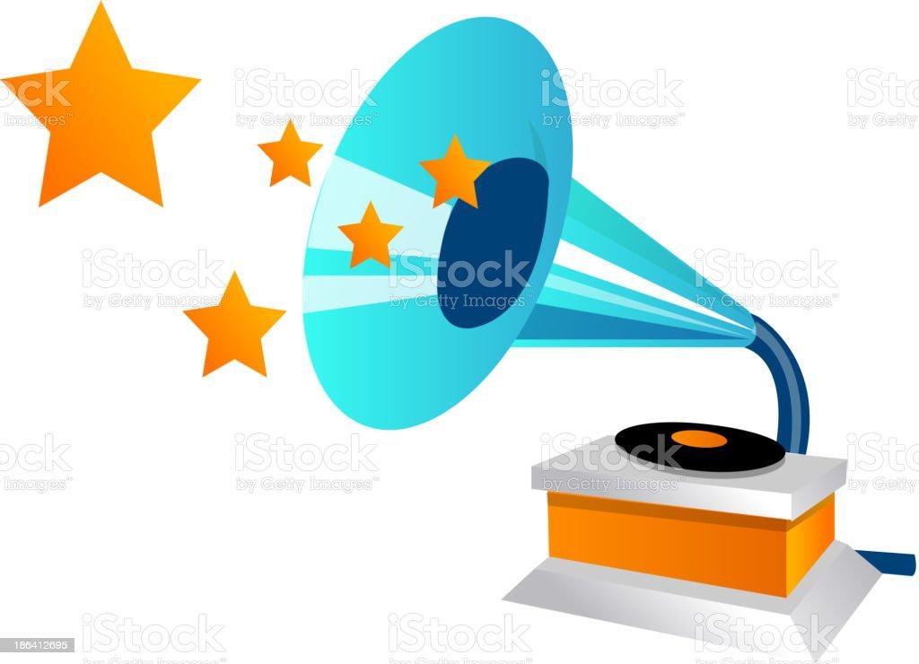 vector icon gramophone royalty-free stock vector art