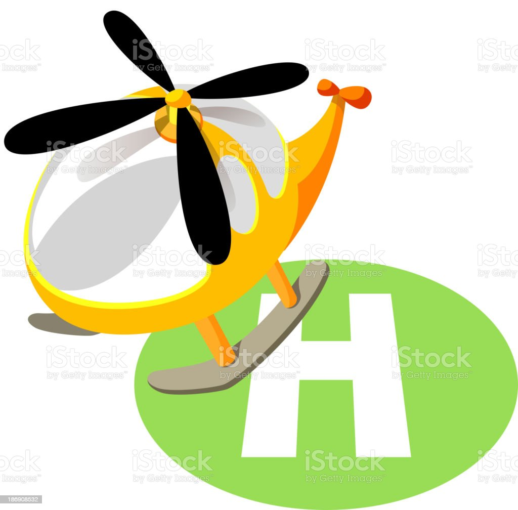 vector icon helicopter royalty-free stock vector art