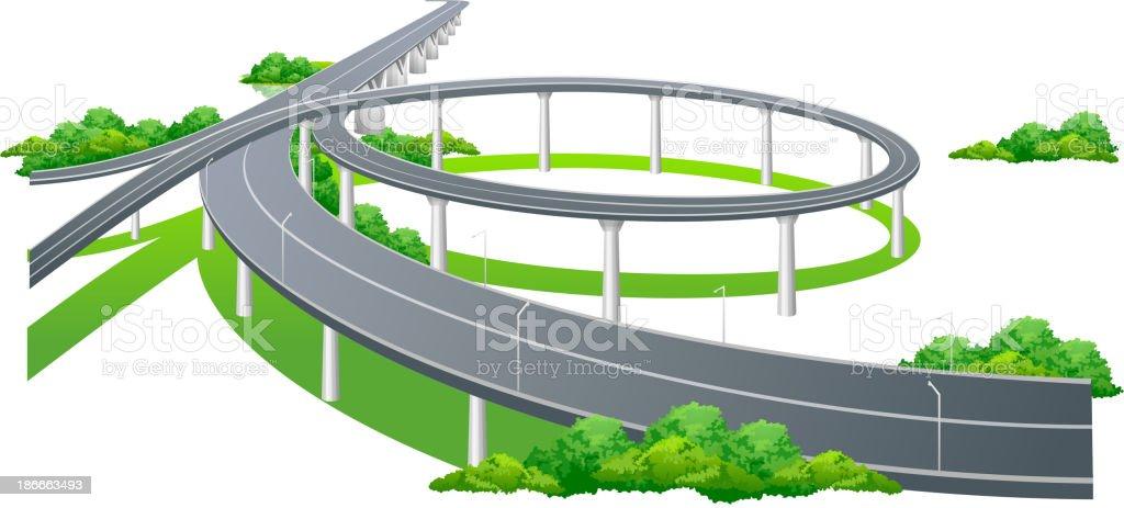 vector icon highway royalty-free stock vector art