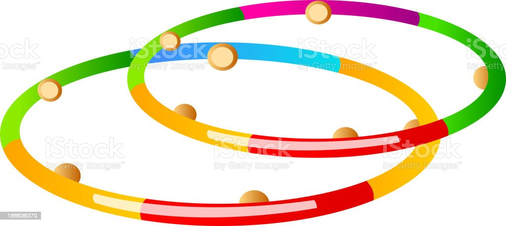 vector icon hula hoop vector art illustration