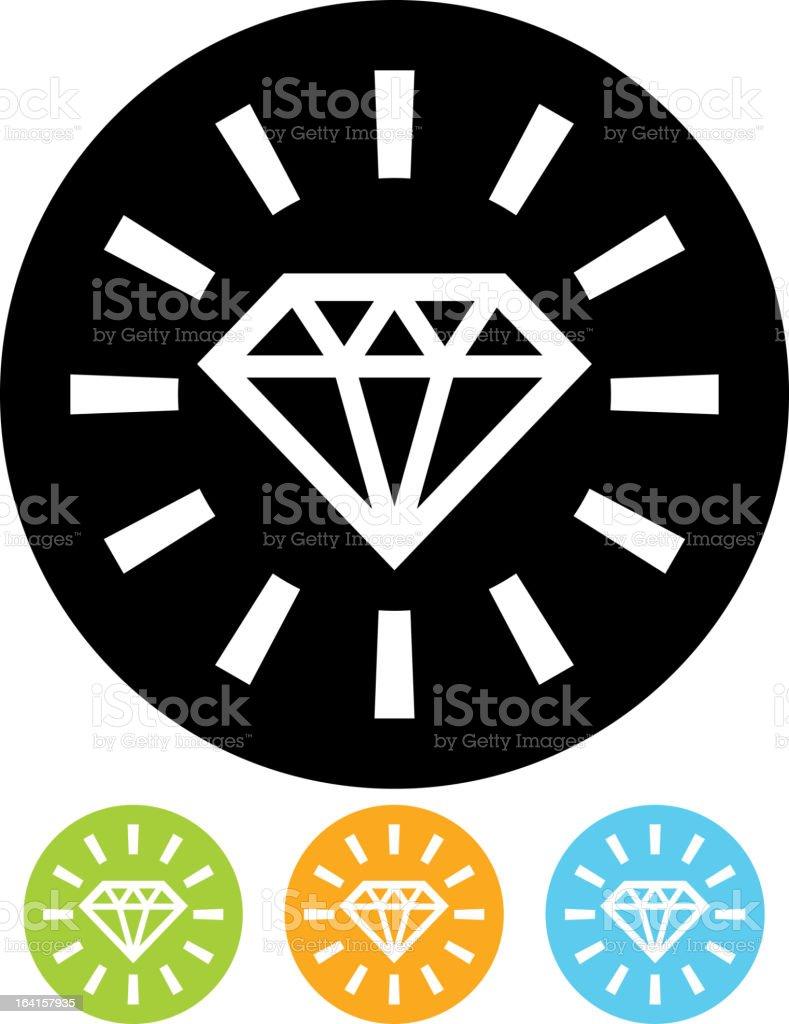 Vector icon isolated - Diamond royalty-free stock vector art