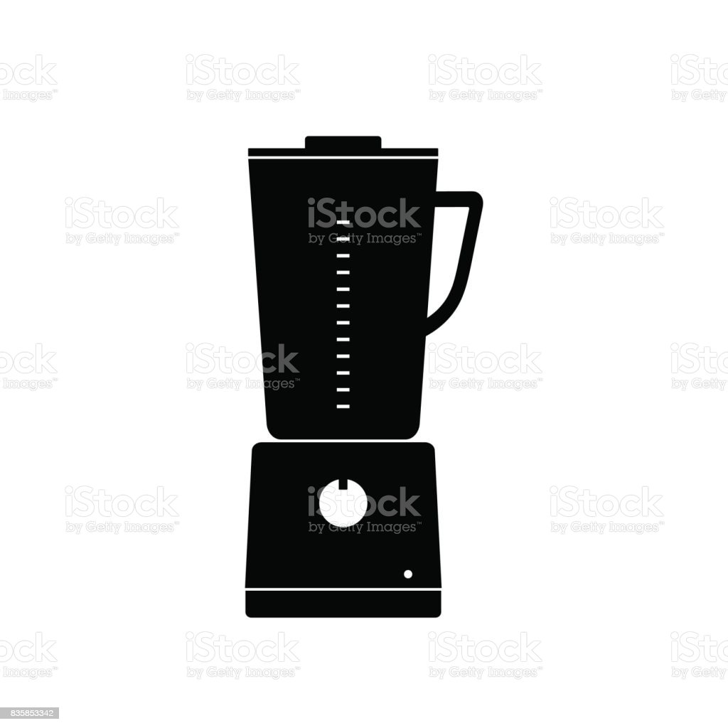 Vector icon kitchen stationary blender for mixing and grinding food and preparing smoothies on a white background. Home Appliances vector art illustration