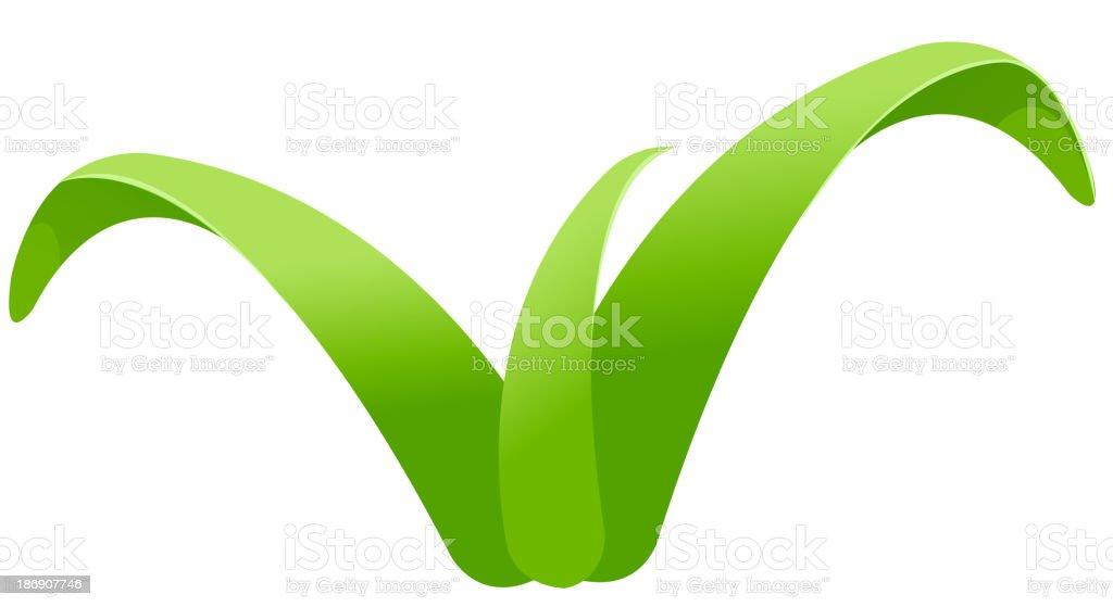vector icon leaf vector art illustration