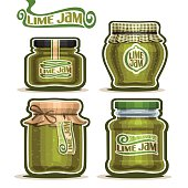 Vector icon Lime Jam in Jars