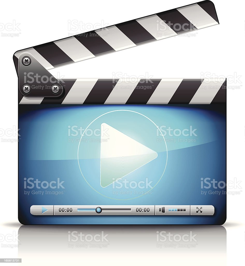 Vector icon of a computer media player royalty-free stock vector art