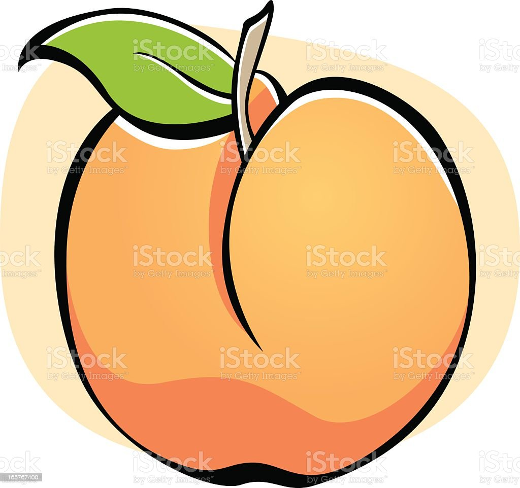 Vector Icon of a Peach Fruit Isolated on White Background. royalty-free stock vector art