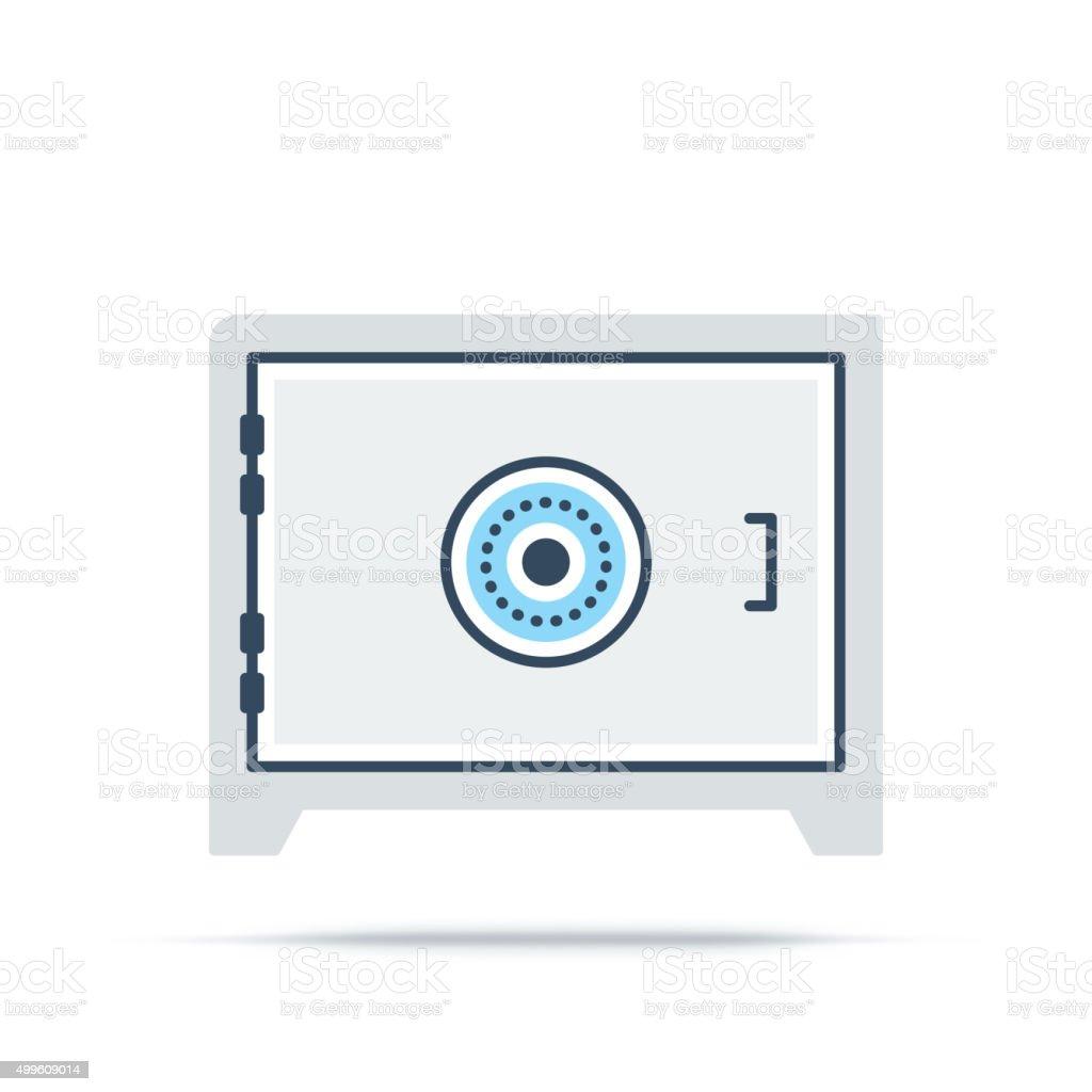 Vector Icon of Bank Safe vector art illustration