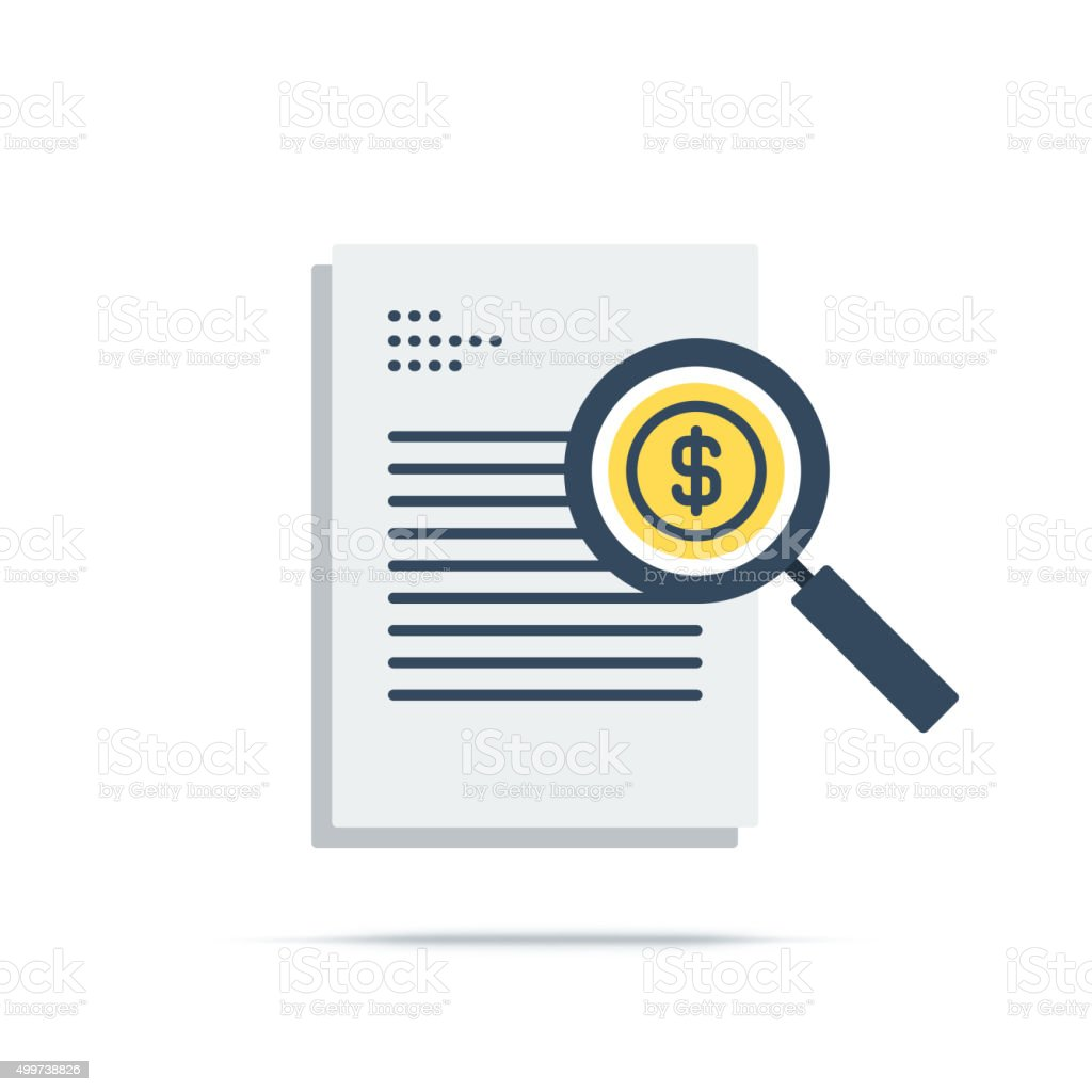 Vector Icon of Business Resources vector art illustration