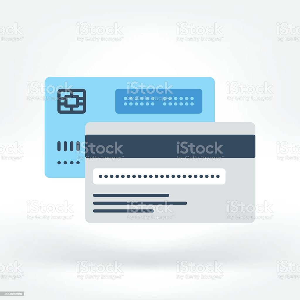 Vector Icon of Credit Card Icon vector art illustration