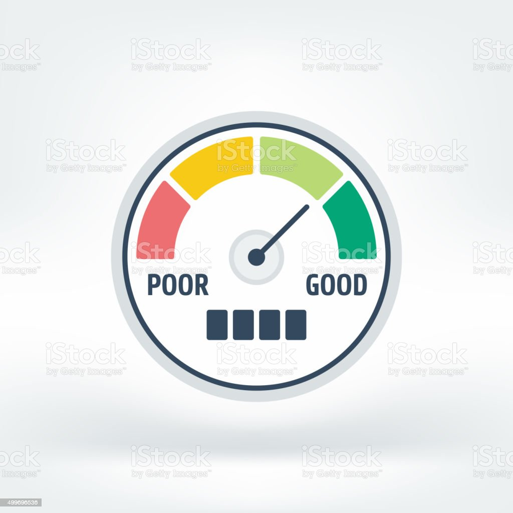 Vector Icon of Credit Score vector art illustration