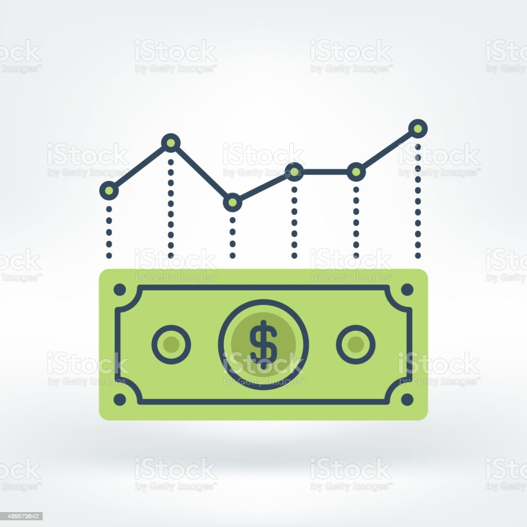 Vector Icon of Forex Icon vector art illustration